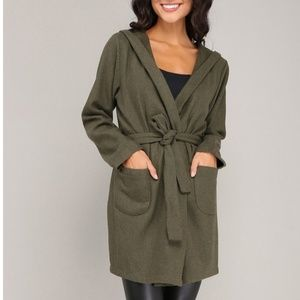 Milan Kiss wrap coat with hood